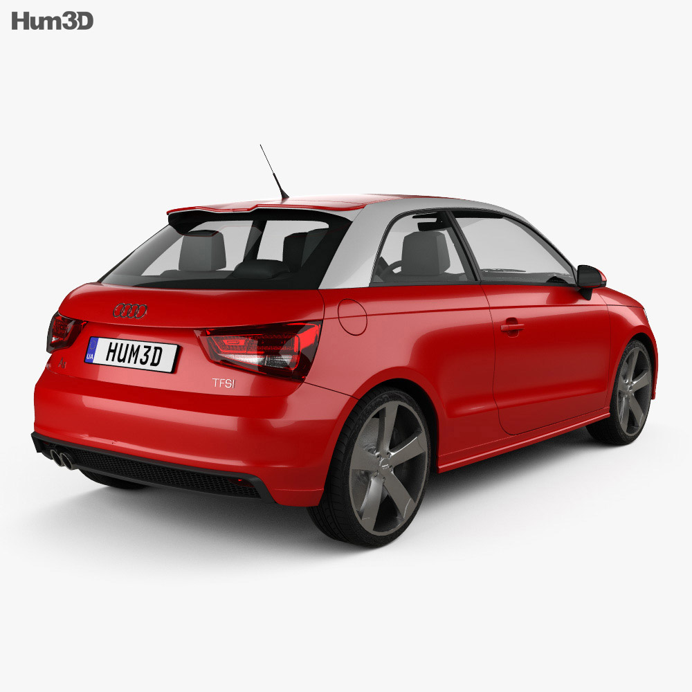 audi a1 3d model hum3d. Black Bedroom Furniture Sets. Home Design Ideas