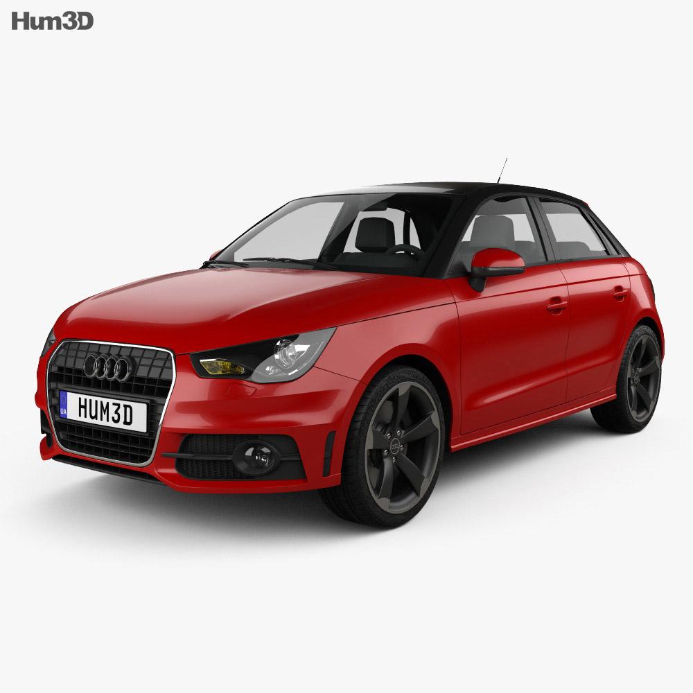 Audi A1 sportback 2012 3d model