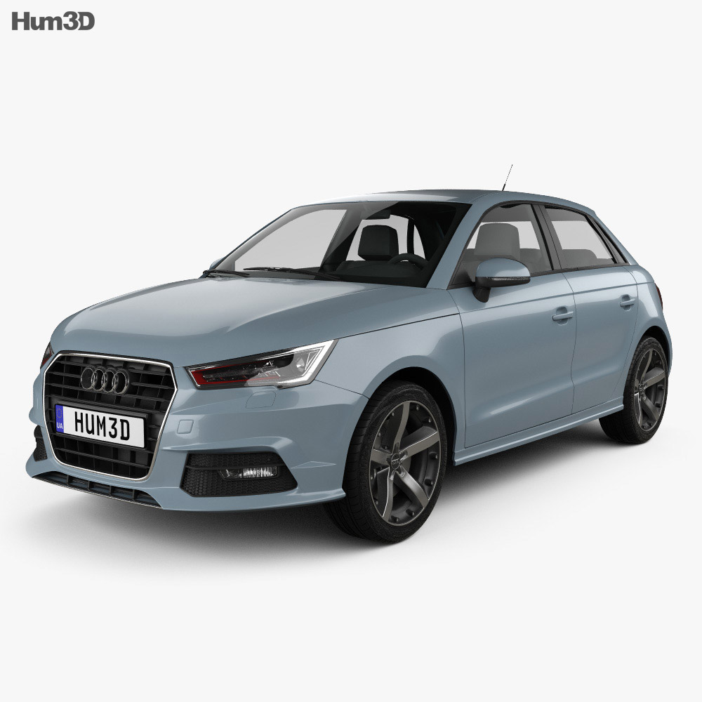 audi a1 sportback 2015 3d model hum3d. Black Bedroom Furniture Sets. Home Design Ideas