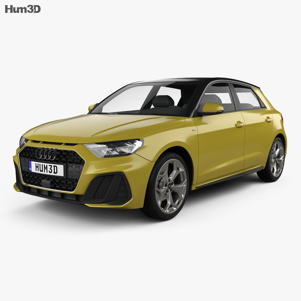 Audi A1 Sportback S-line 2018 3d model