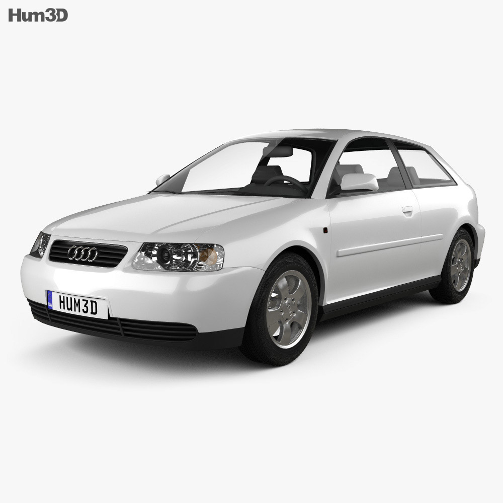 audi a3 8l 3 door 2003 3d model vehicles on hum3d. Black Bedroom Furniture Sets. Home Design Ideas