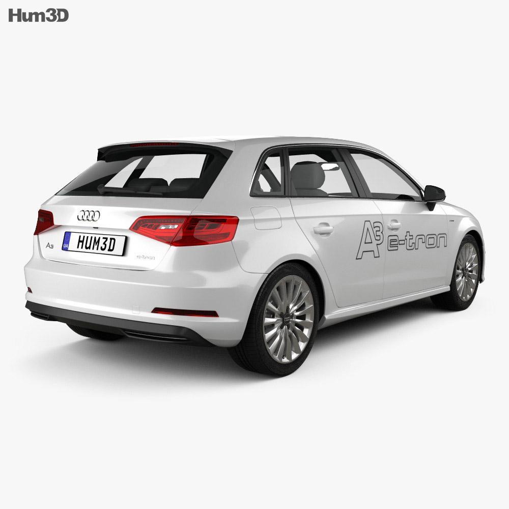 Audi A3 Sportback E-tron 2013 3D Model