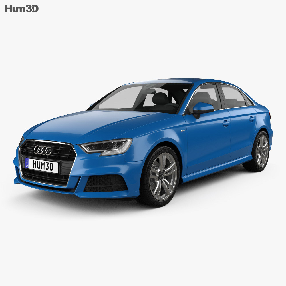 audi a3 s line 2016 3d model vehicles on hum3d. Black Bedroom Furniture Sets. Home Design Ideas