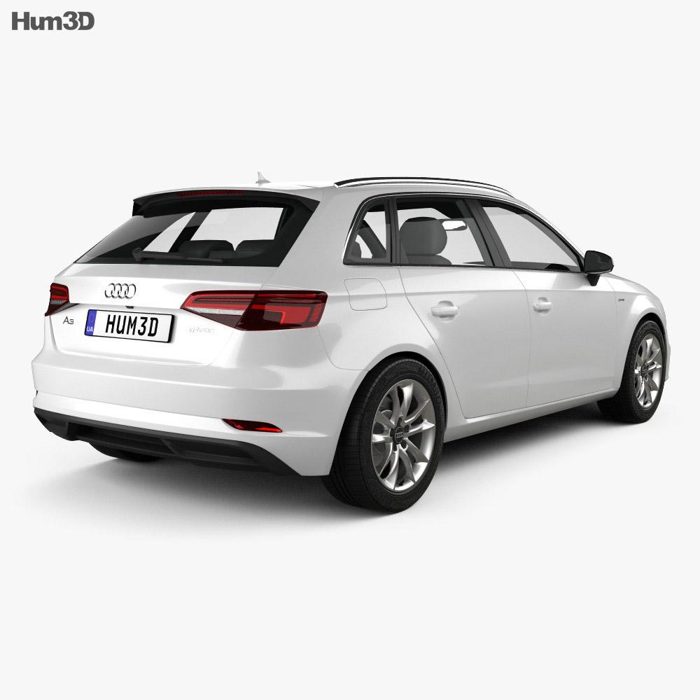 Audi A3 Sportback g-tron 2016 3d model
