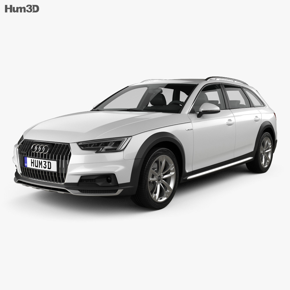 audi a4 b9 allroad 2017 3d model hum3d. Black Bedroom Furniture Sets. Home Design Ideas
