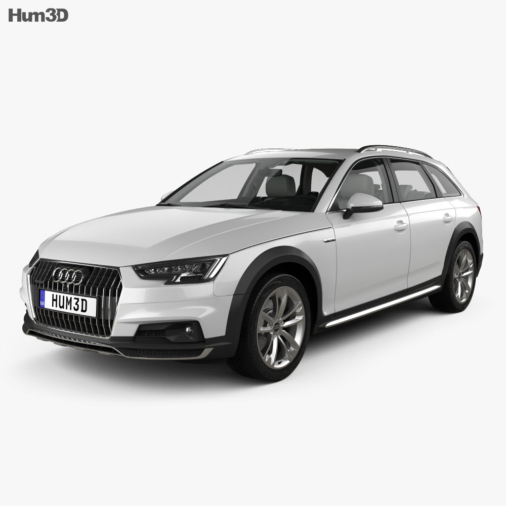 audi a4 b9 allroad with hq interior 2017 3d model hum3d. Black Bedroom Furniture Sets. Home Design Ideas