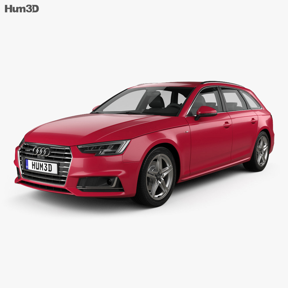 audi a4 b9 avant s line 2016 3d model hum3d. Black Bedroom Furniture Sets. Home Design Ideas