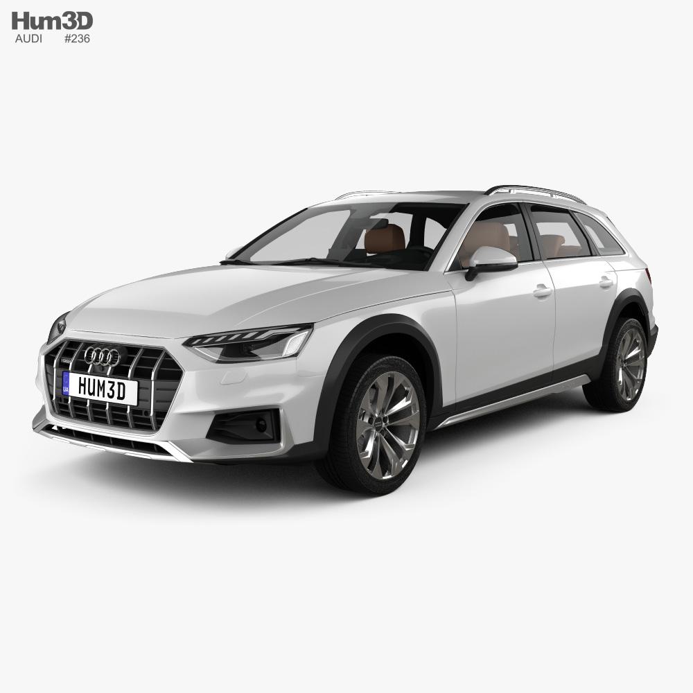 Audi A4 Allroad with HQ interior 2019 3d model