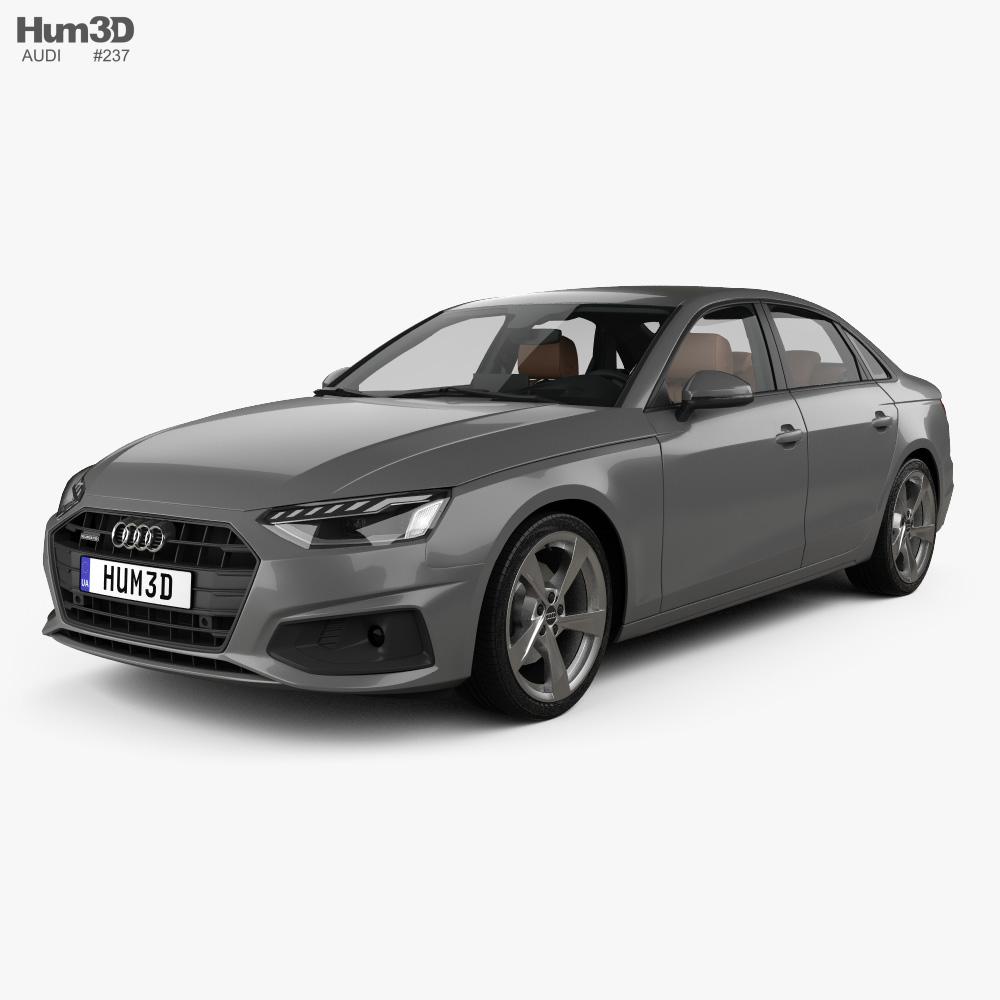Audi A4 sedan with HQ interior 2019 3d model