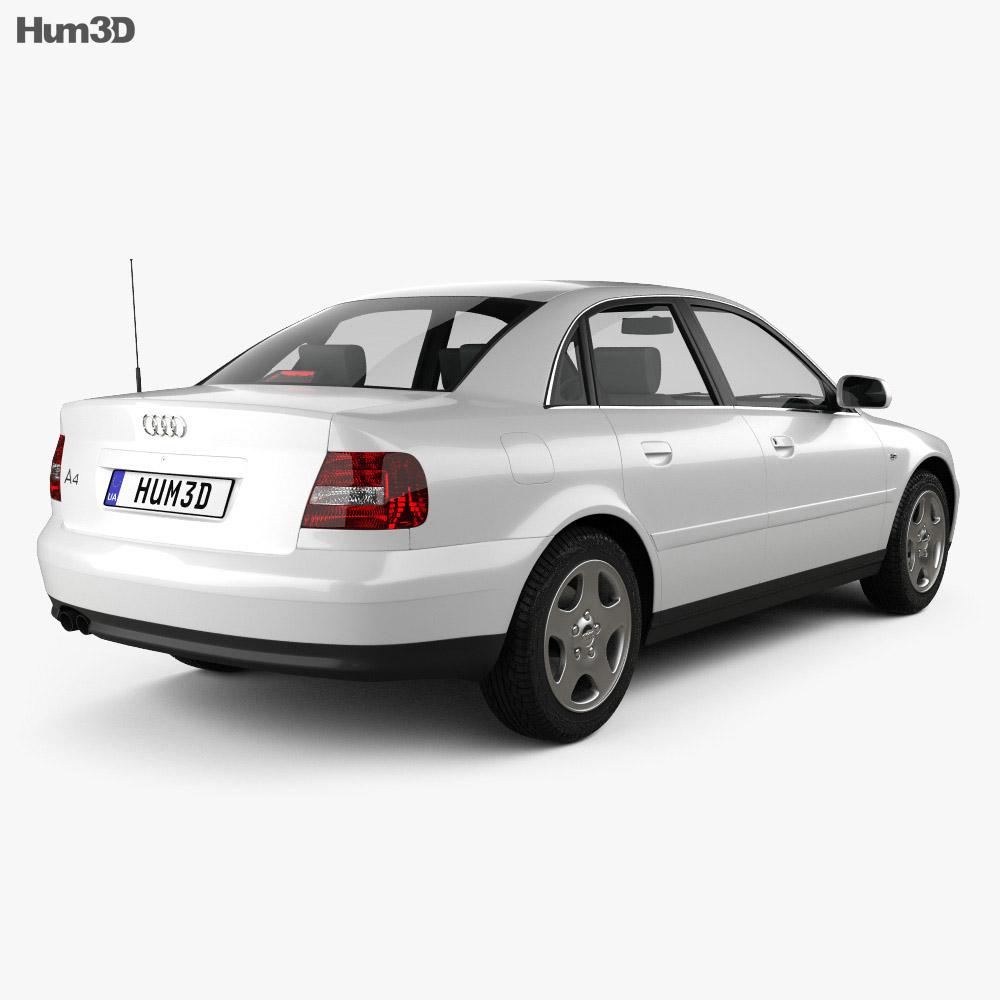 audi a4 sedan 1999 3d model vehicles on hum3d. Black Bedroom Furniture Sets. Home Design Ideas