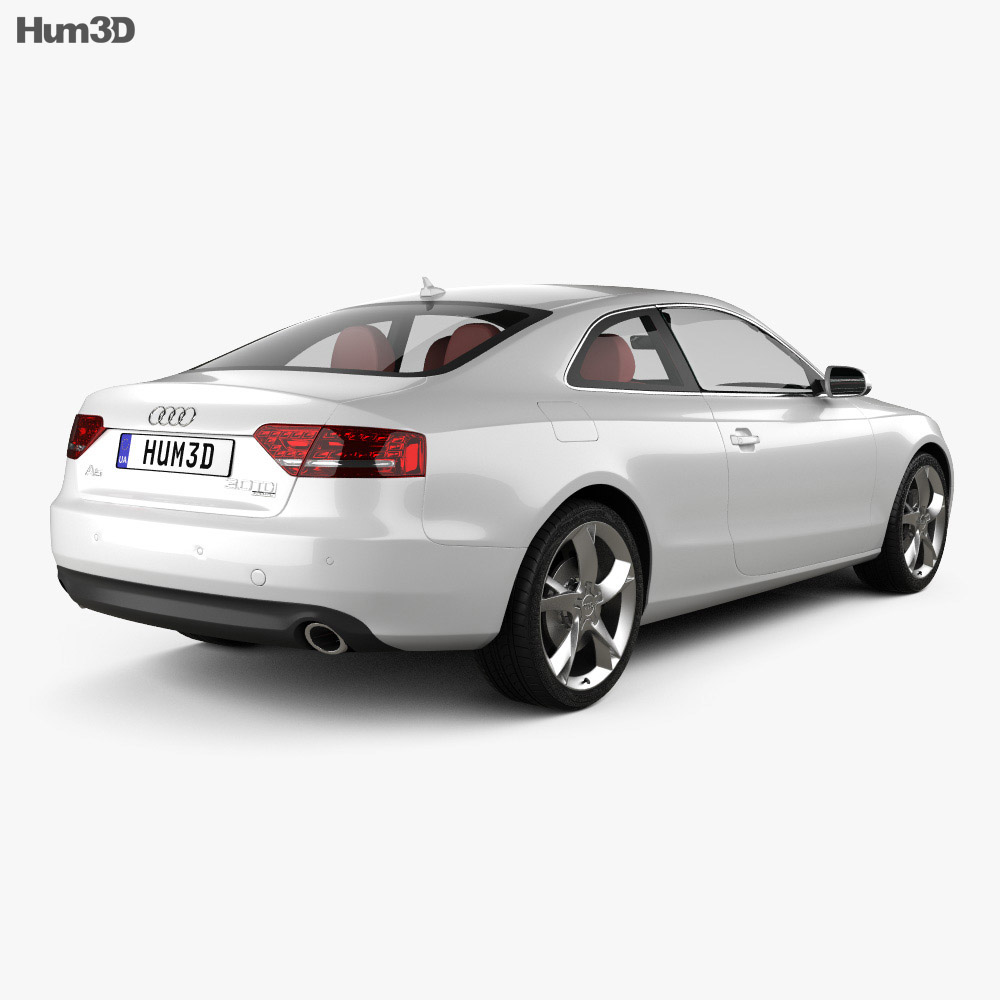 audi a5 coupe 2010 3d model hum3d. Black Bedroom Furniture Sets. Home Design Ideas