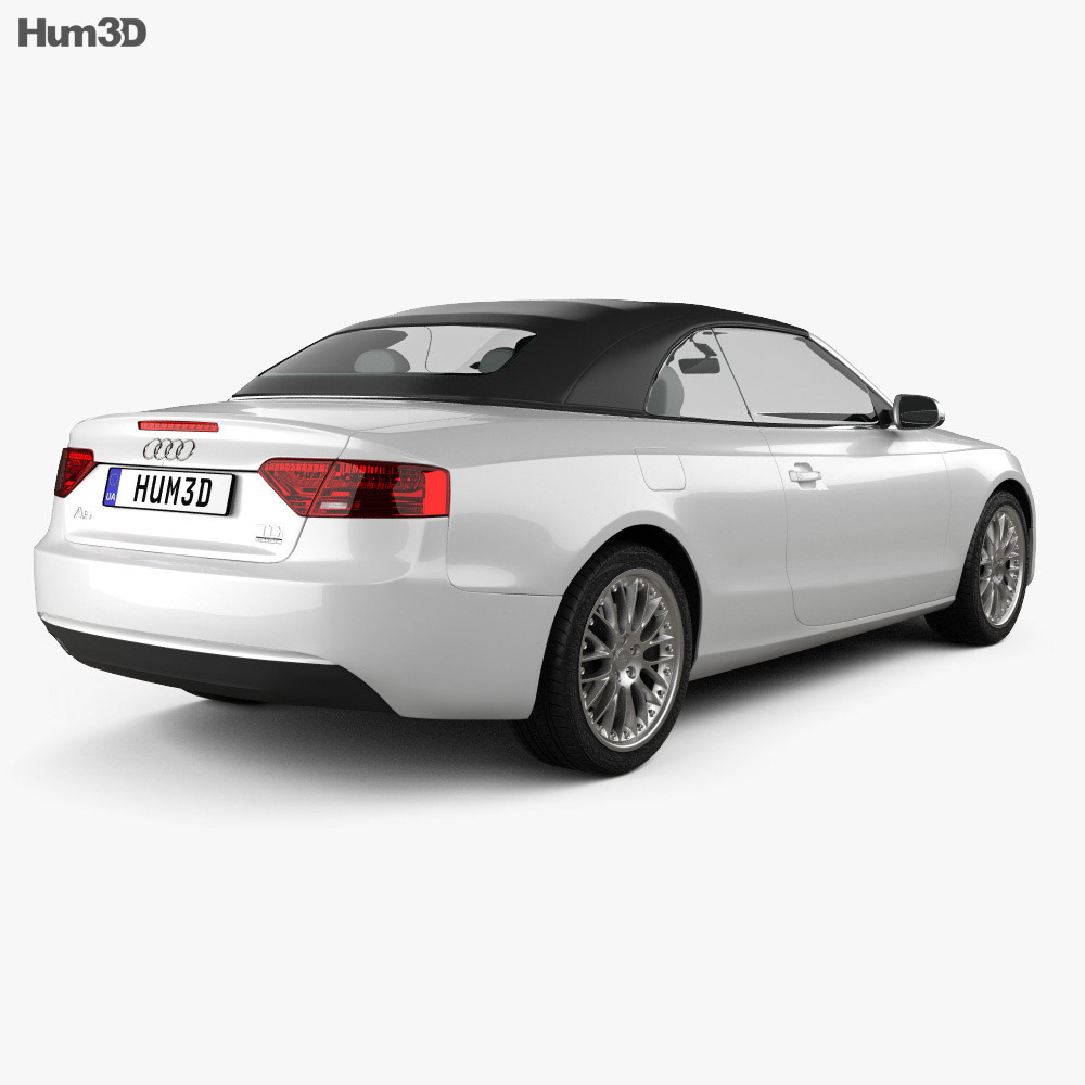 Audi A5 cabriolet 2012 3d model