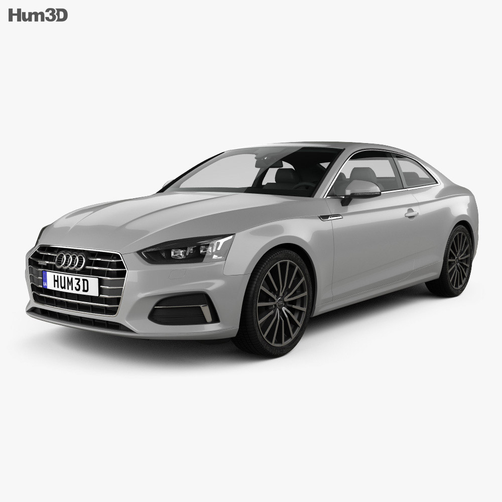 audi a5 coupe 2016 3d model hum3d. Black Bedroom Furniture Sets. Home Design Ideas