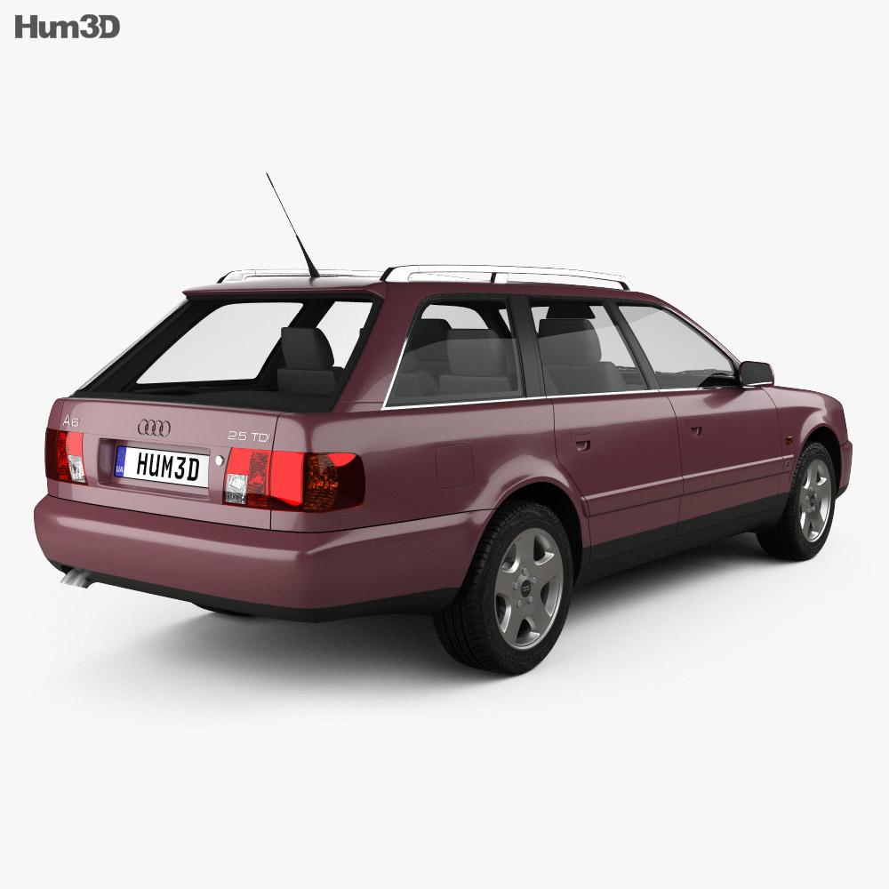 audi a6 c4 avant 1994 3d model hum3d. Black Bedroom Furniture Sets. Home Design Ideas