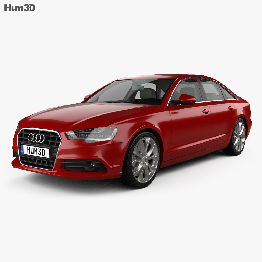 Audi A6 (C7) with HQ interior 2012 3d model