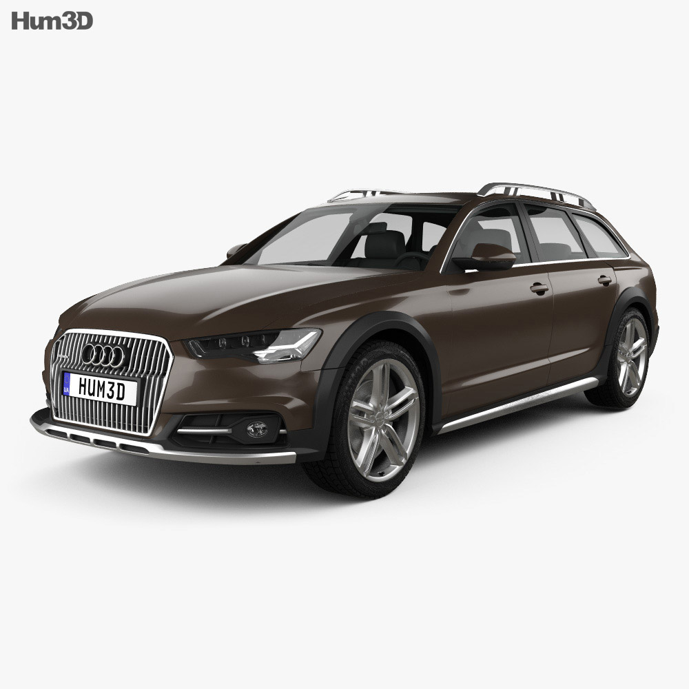 audi a6 c7 allroad 2015 3d model vehicles on hum3d. Black Bedroom Furniture Sets. Home Design Ideas