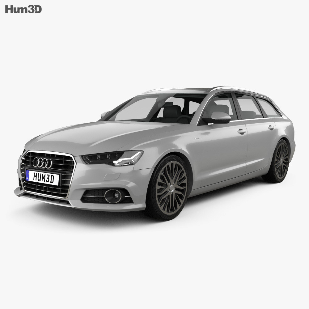 audi a6 c7 avant 2015 3d model hum3d. Black Bedroom Furniture Sets. Home Design Ideas