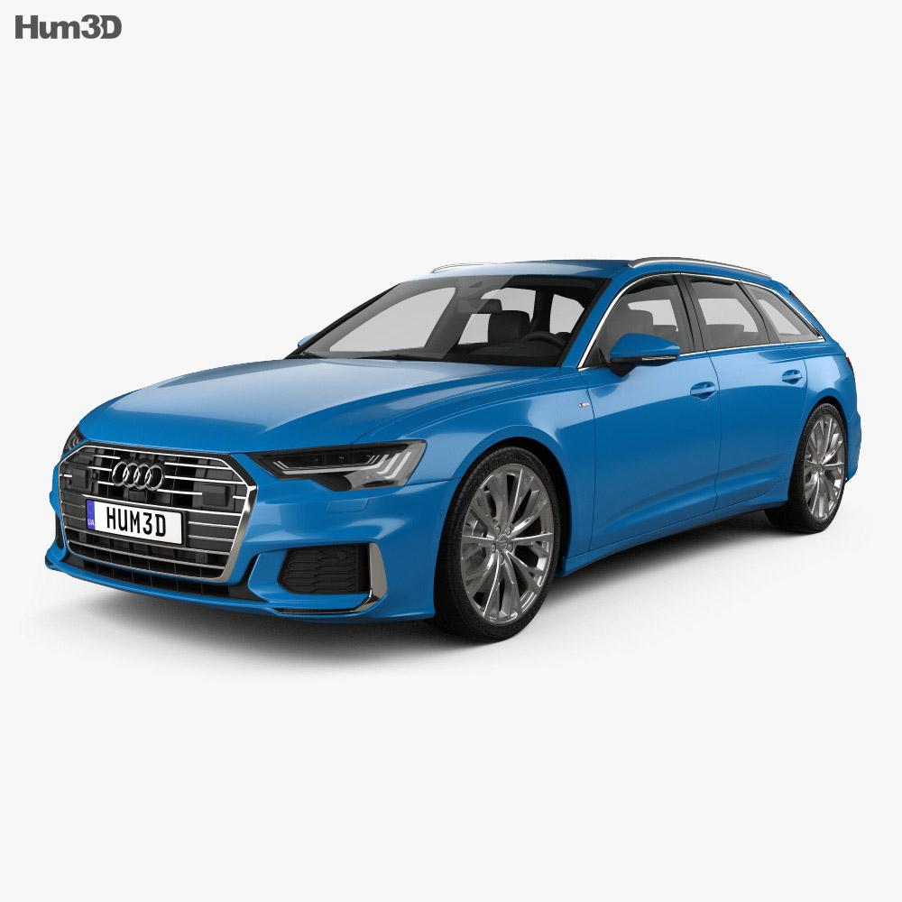 Audi A6 S Line Avant 2018 3d Model