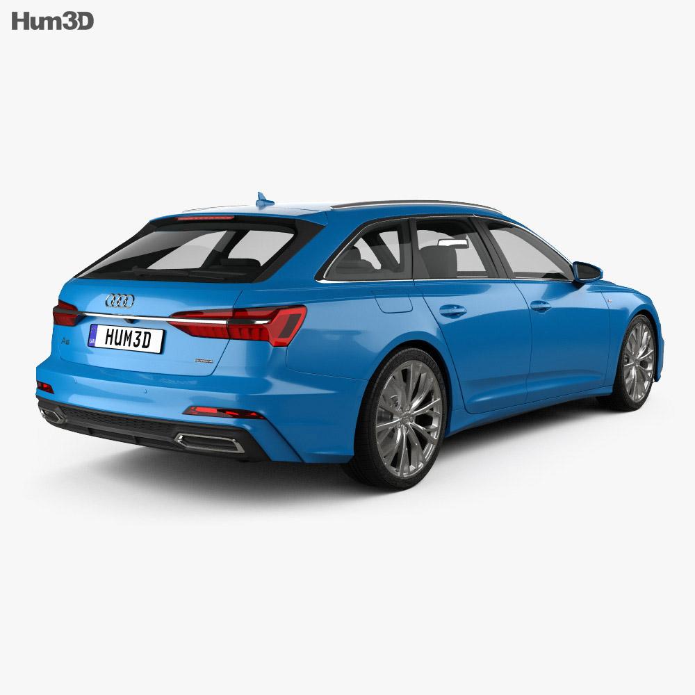 Audi A6 S-Line Avant 2018 3D Model