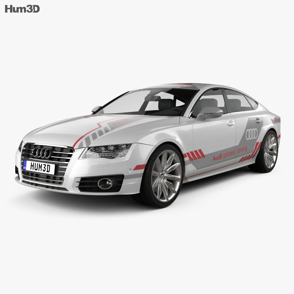 Audi Piloted Driving >> Audi A7 Sportback Piloted Driving Concept 2016 3d Model