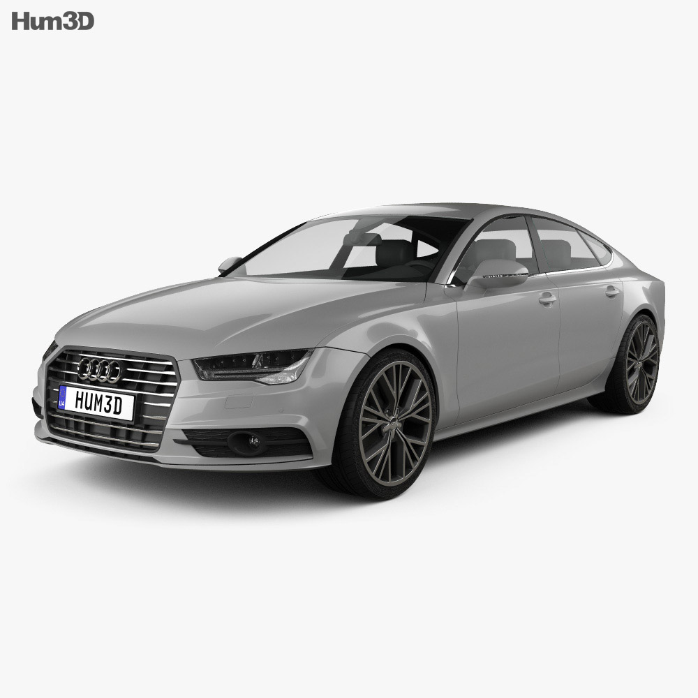 audi a7 sportback s line 2015 3d model hum3d. Black Bedroom Furniture Sets. Home Design Ideas
