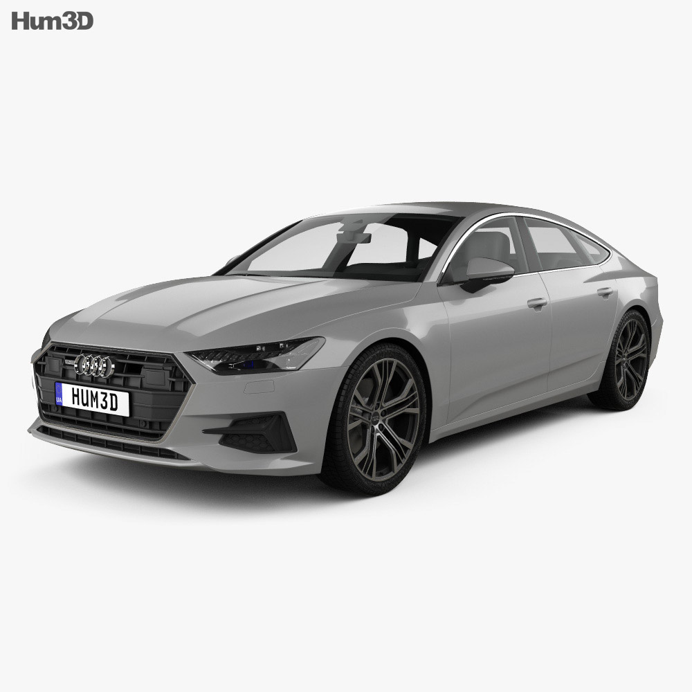 audi a7 sportback 2018 3d model hum3d. Black Bedroom Furniture Sets. Home Design Ideas