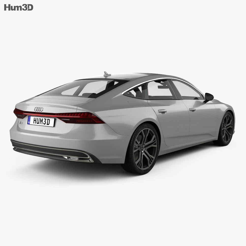 audi a7 sportback 2018 3d model vehicles on hum3d. Black Bedroom Furniture Sets. Home Design Ideas