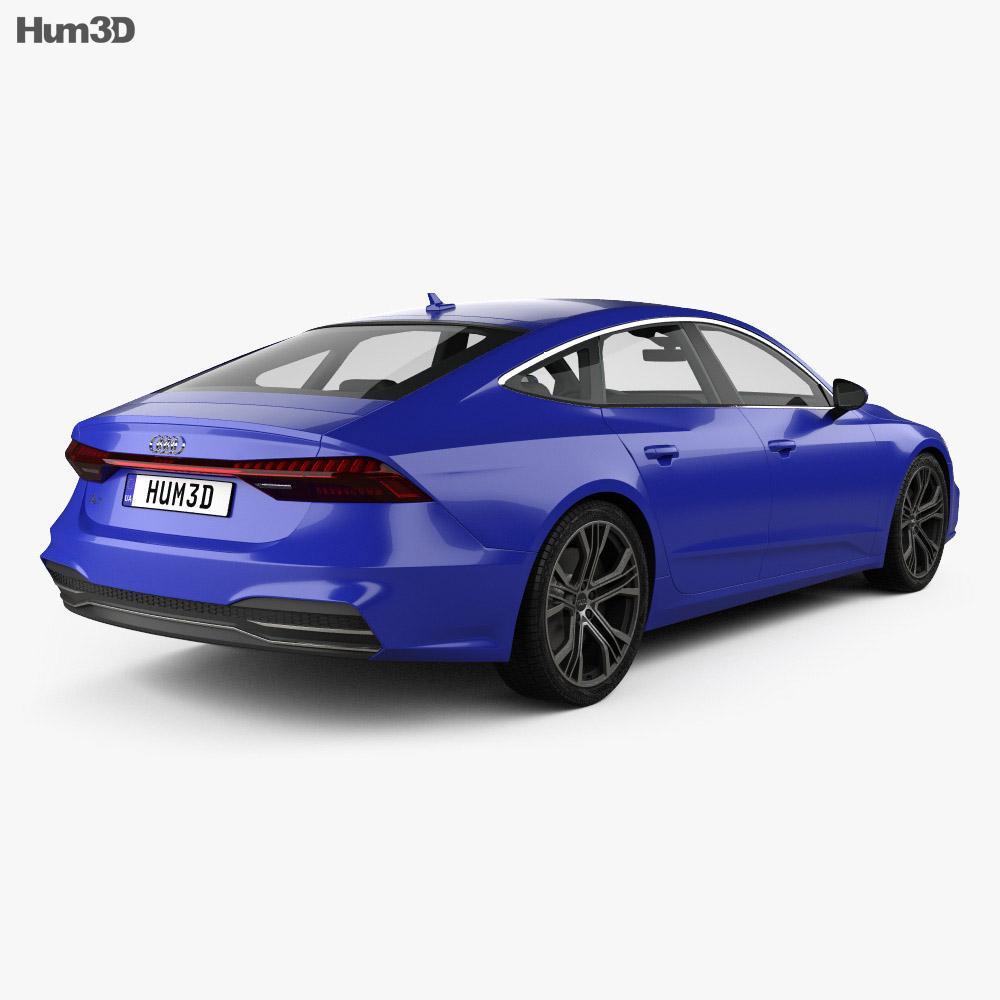 audi a7 sportback s line 2018 3d model vehicles on hum3d. Black Bedroom Furniture Sets. Home Design Ideas