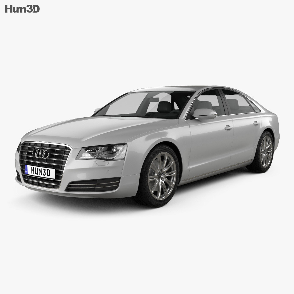 Audi A8 (D4) 2010 3d model
