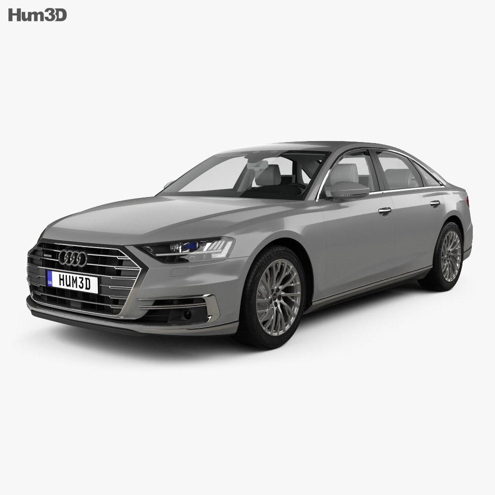 Audi A8 (D5) L with HQ interior 2018 3d model