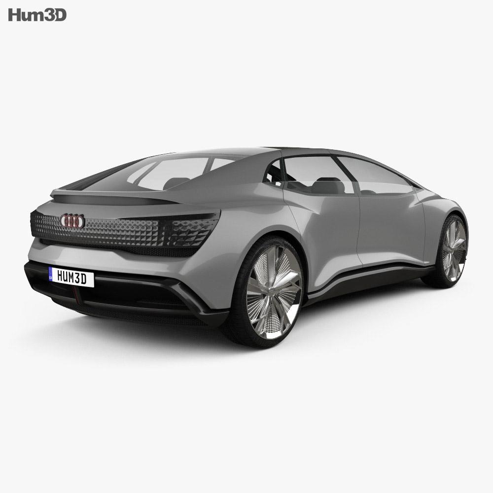 Audi Aicon 2017 3d model back view