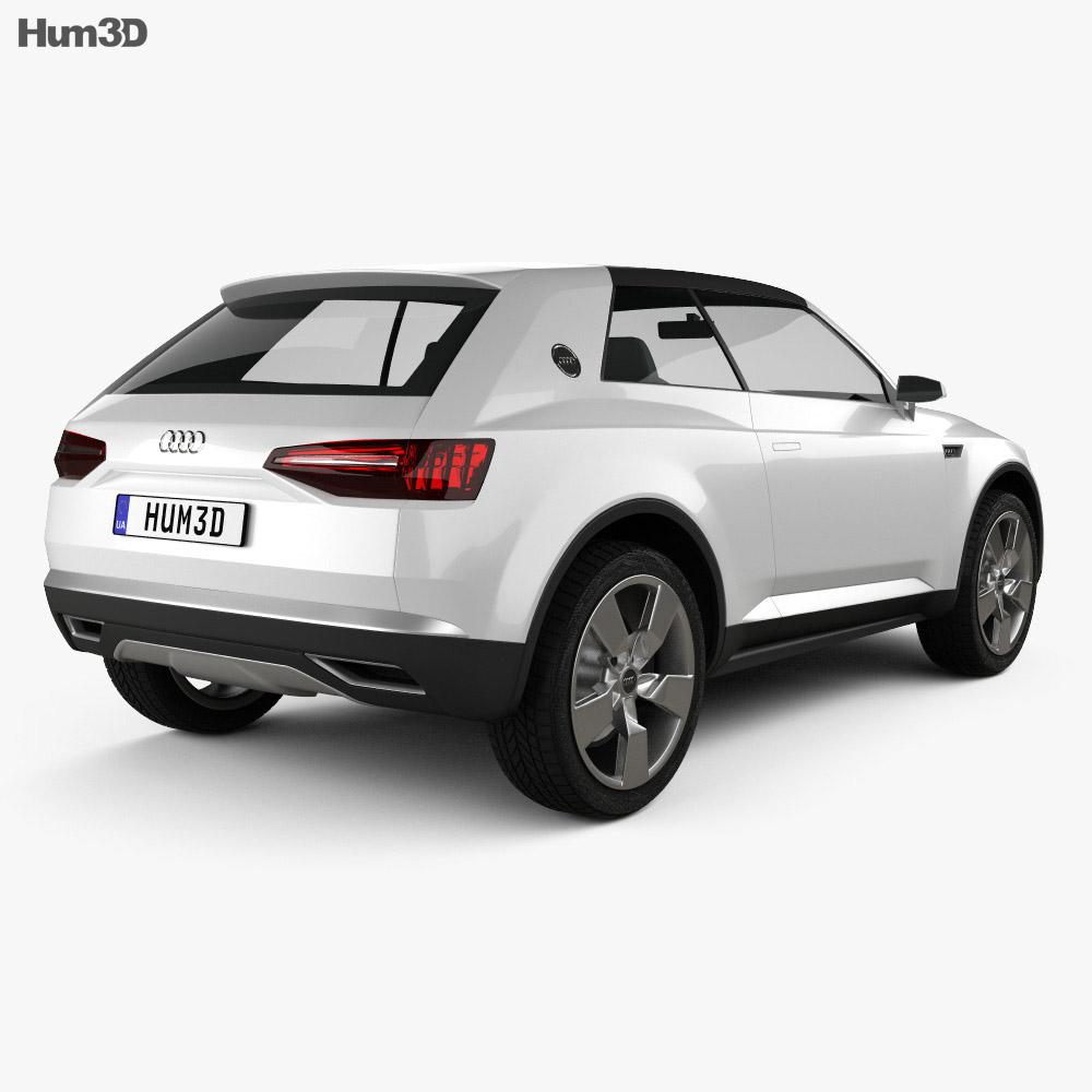 Audi Crosslane Coupe 2012 Modèle 3d vue arrière