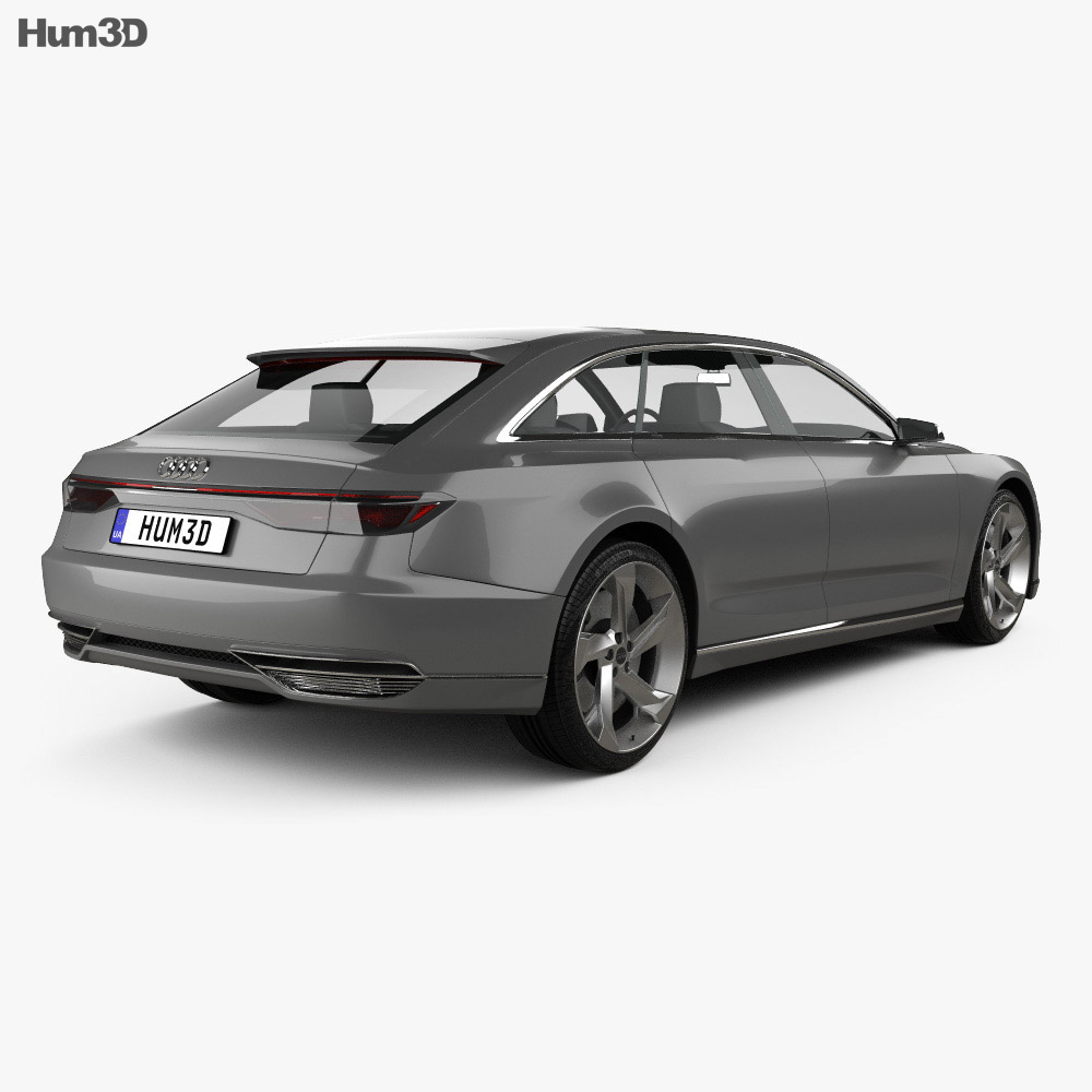 Audi Prologue Avant 2015 3d model back view