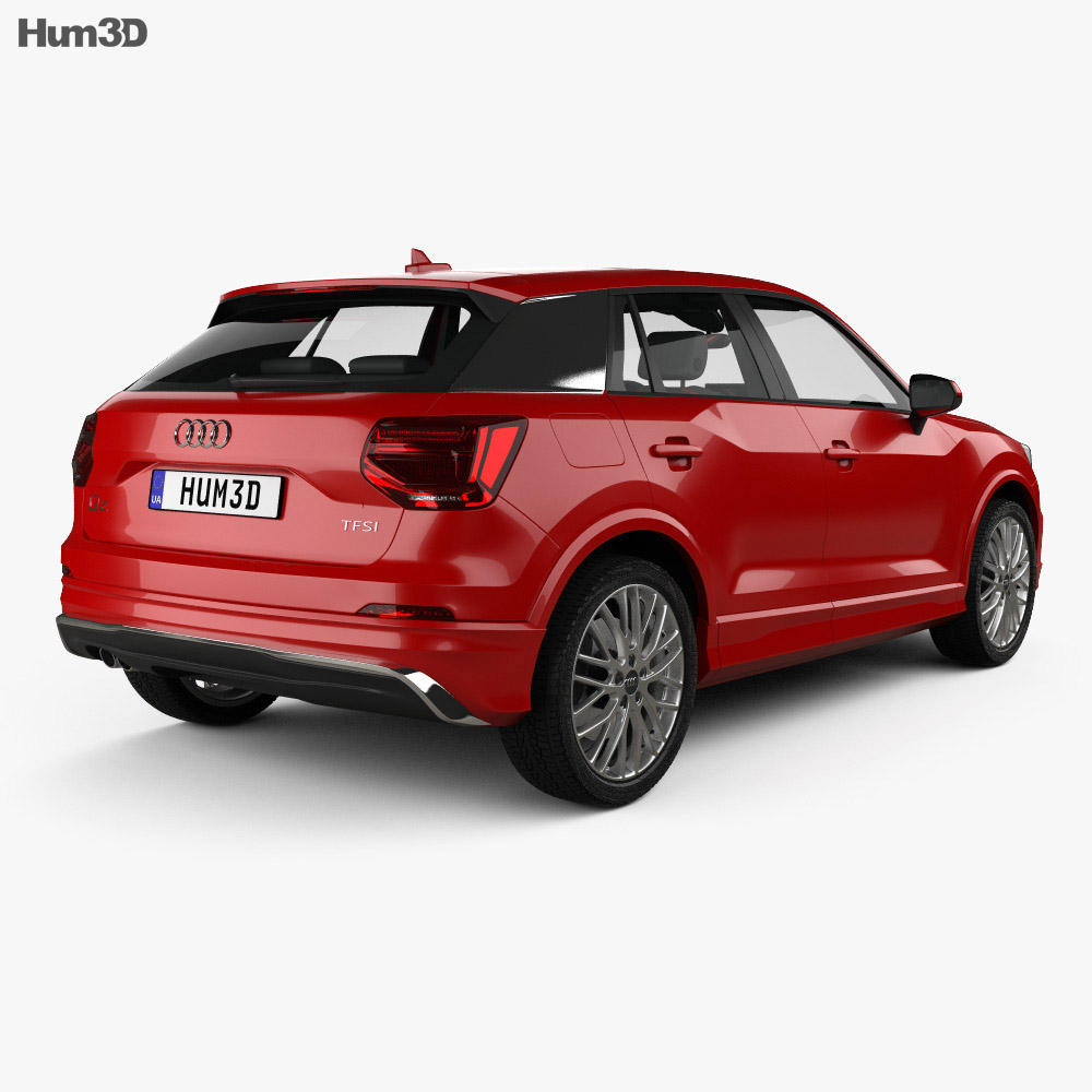Audi Q2 S-Line with HQ interior 2017 3d model