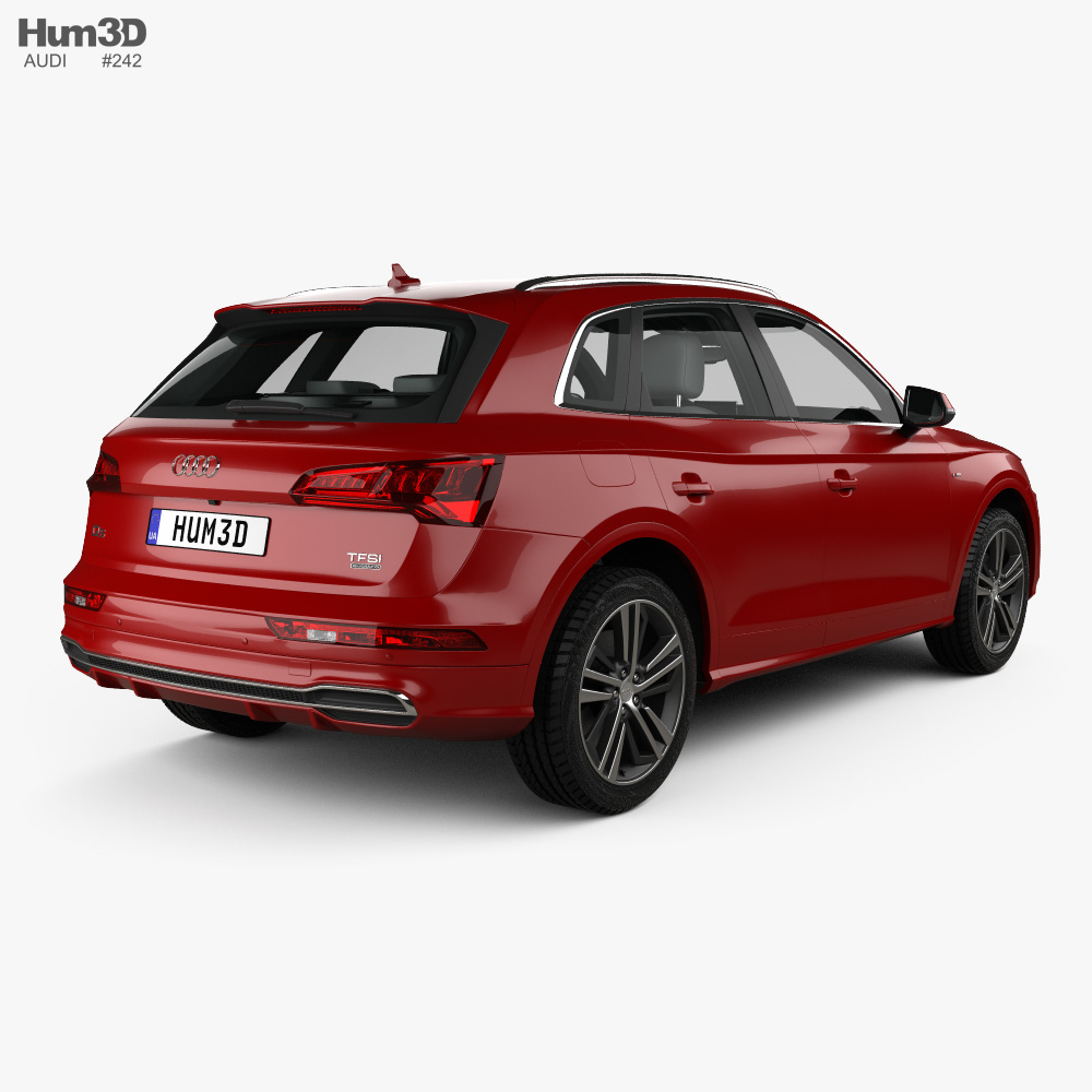 Audi Q5 S-line with HQ interior 2016 3d model