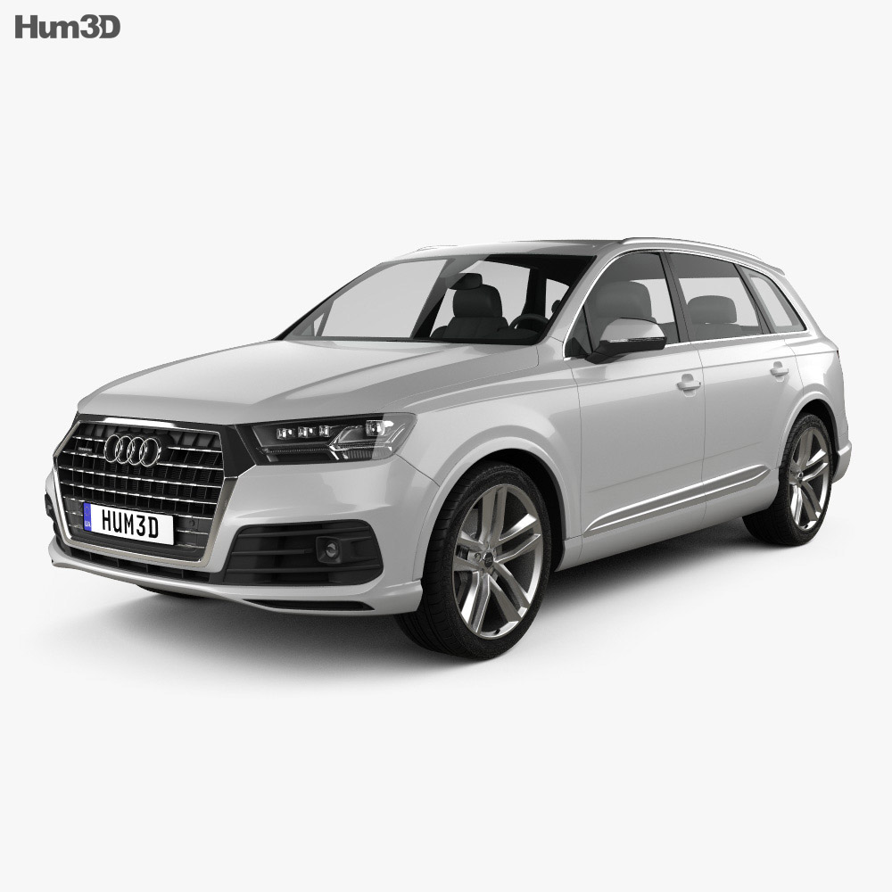 audi q7 s line 2016 3d model hum3d. Black Bedroom Furniture Sets. Home Design Ideas