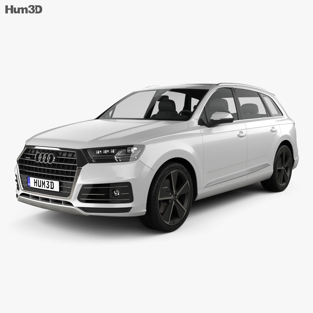 audi q7 e tron 2017 3d model hum3d. Black Bedroom Furniture Sets. Home Design Ideas