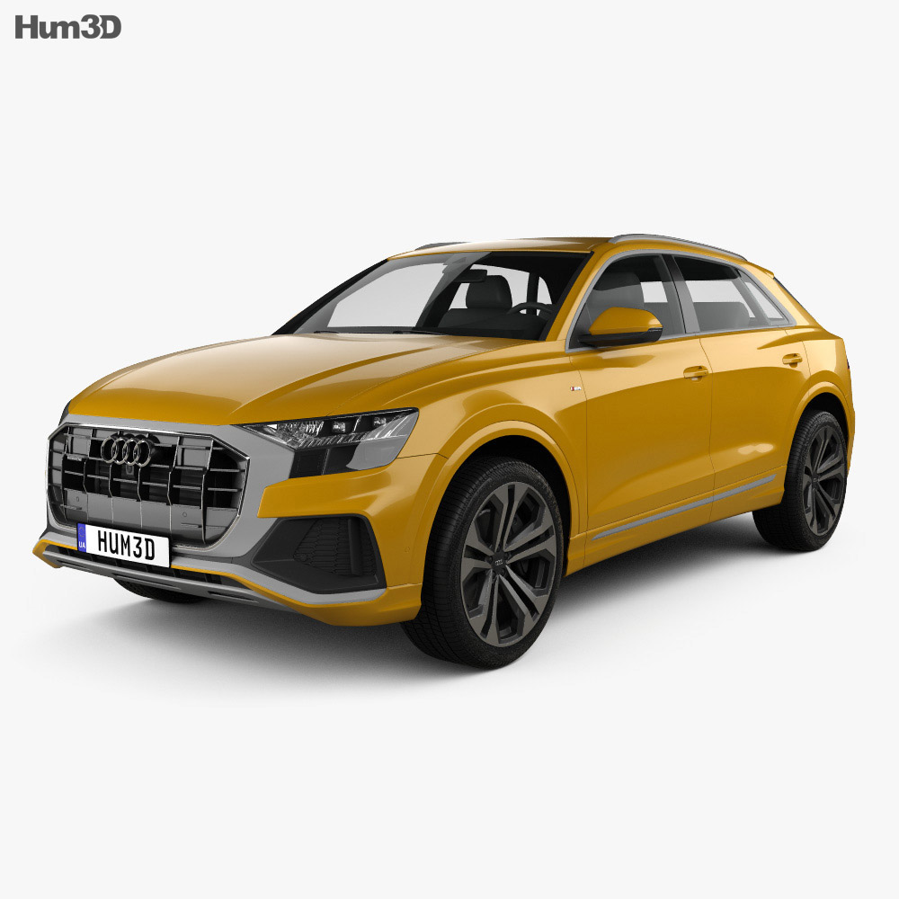 Audi Q8 S-line 2018 3d model