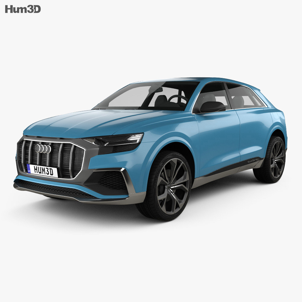 audi q8 concept 2017 3d model vehicles on hum3d. Black Bedroom Furniture Sets. Home Design Ideas
