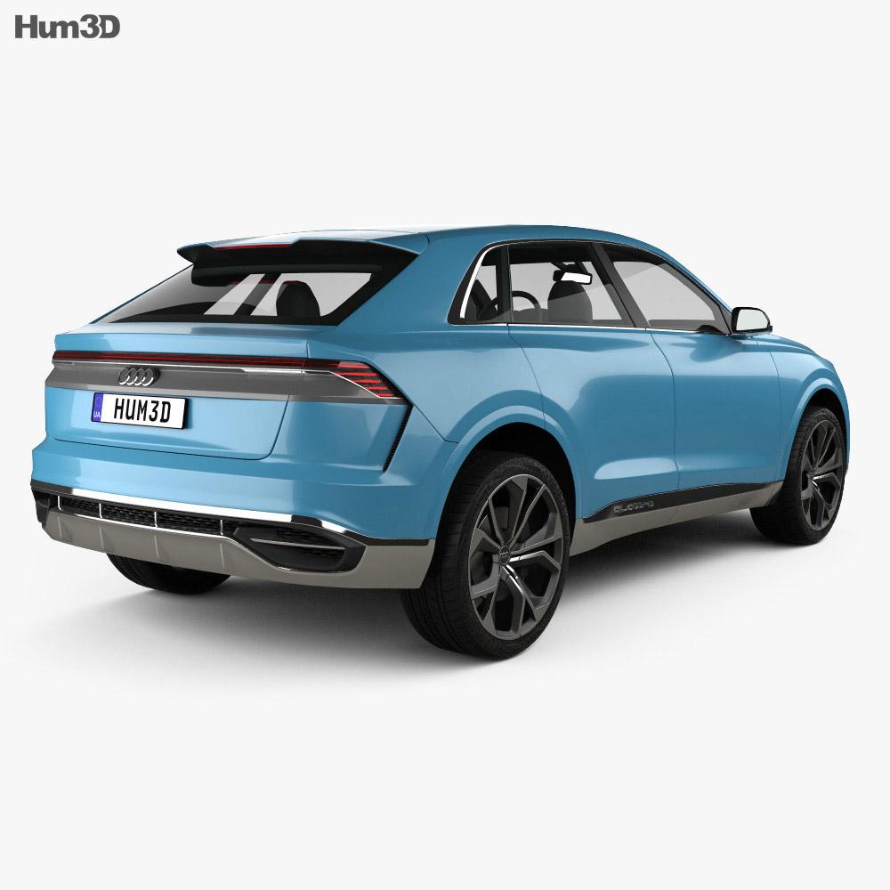 Audi Q8 concept 2017 3d model