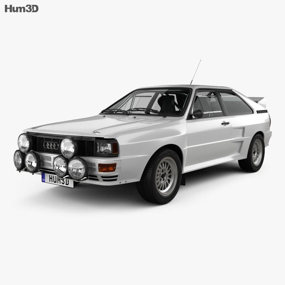 Audi Quattro A2 1981 3d model