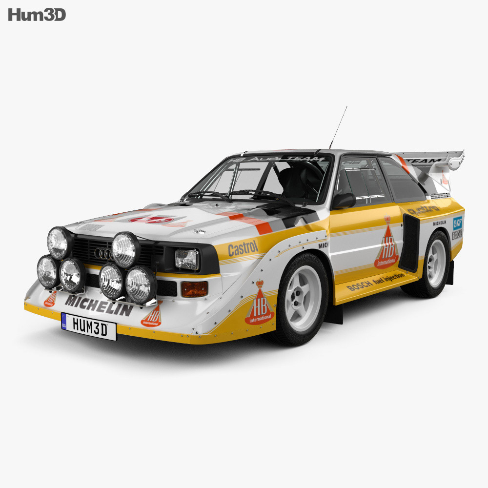 audi quattro sport s1 e2 1985 3d model vehicles on hum3d
