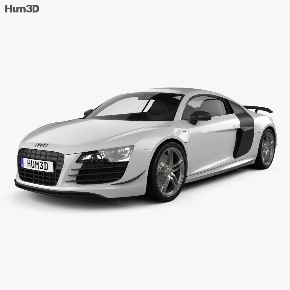 audi r8 gt 2011 3d model hum3d. Black Bedroom Furniture Sets. Home Design Ideas