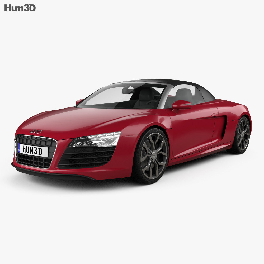 audi r8 spyder 2013 3d model hum3d. Black Bedroom Furniture Sets. Home Design Ideas