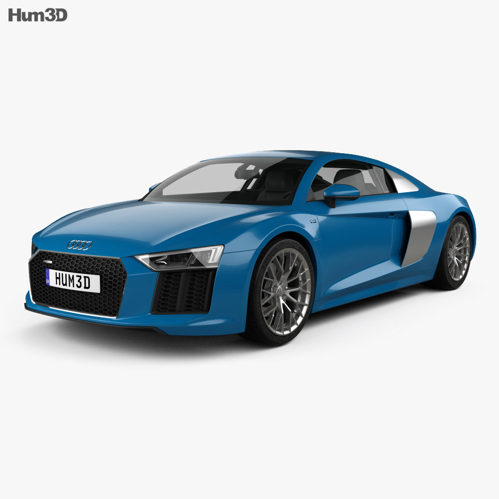 Audi R8 2016 3d model