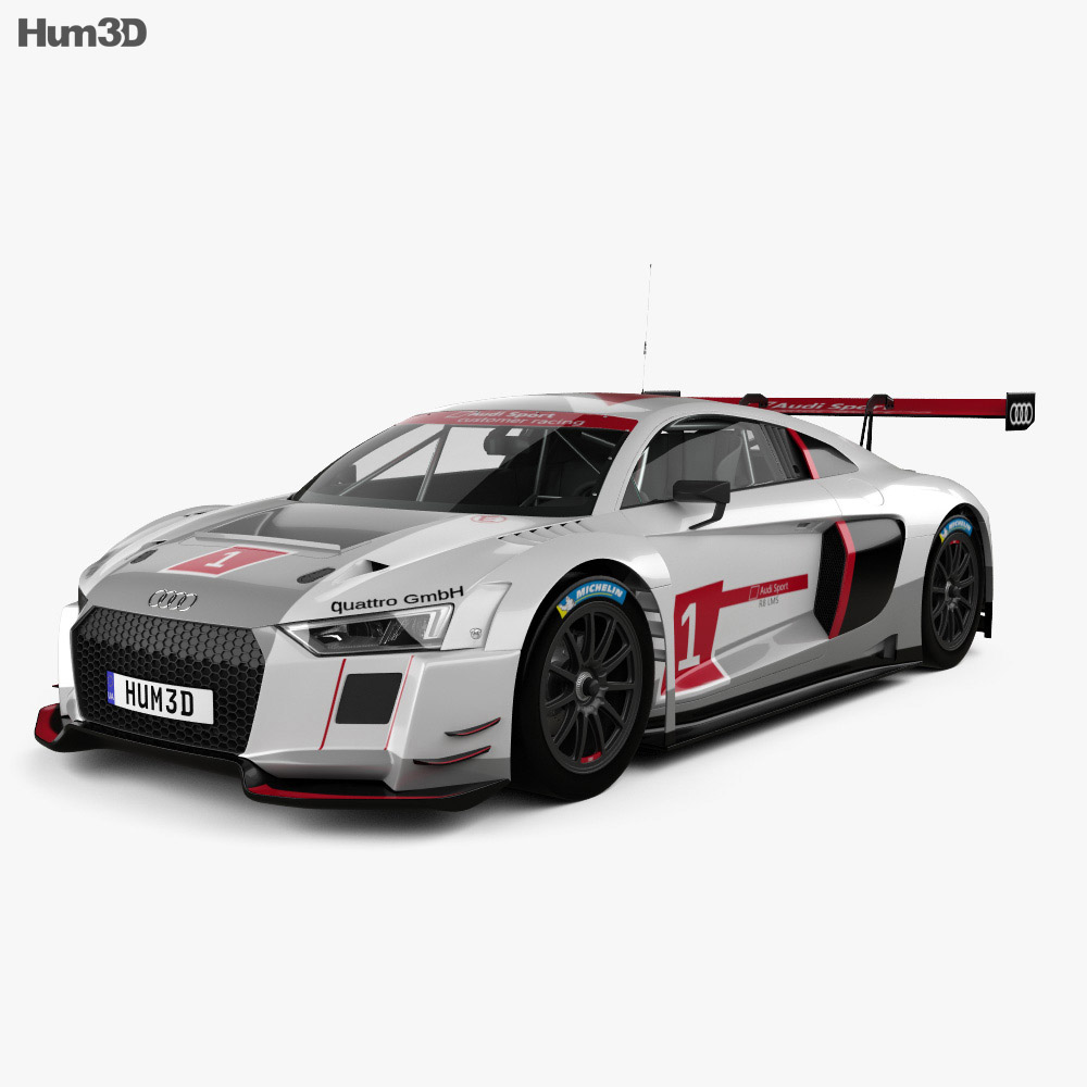 audi r8 lms 2016 3d model humster3d. Black Bedroom Furniture Sets. Home Design Ideas