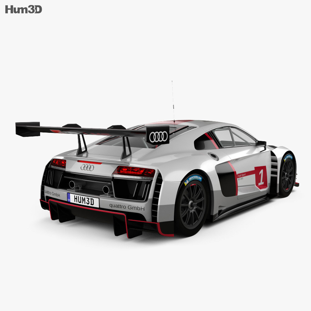 audi r8 lms 2016 3d model hum3d. Black Bedroom Furniture Sets. Home Design Ideas