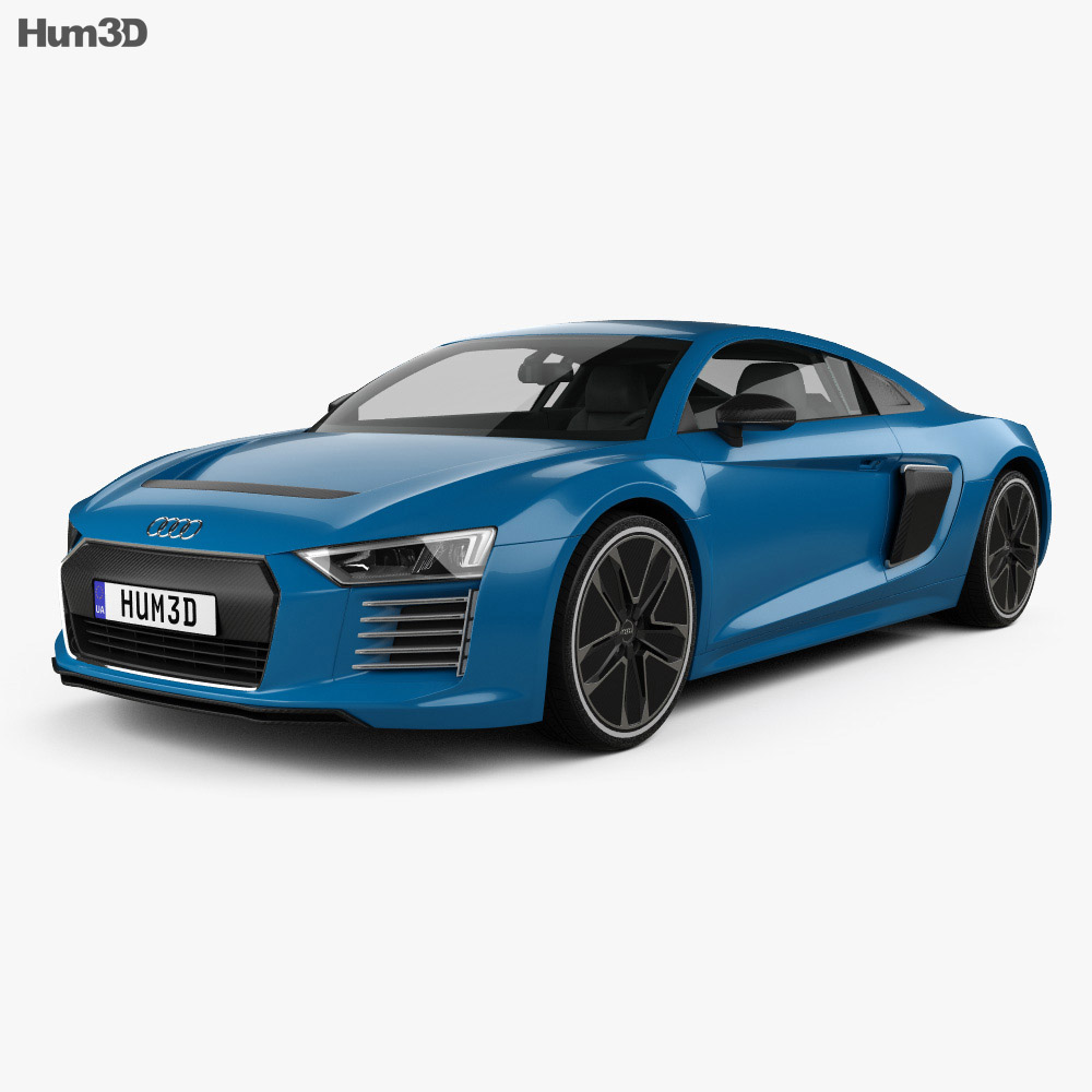 audi r8 e tron 2016 3d model humster3d. Black Bedroom Furniture Sets. Home Design Ideas