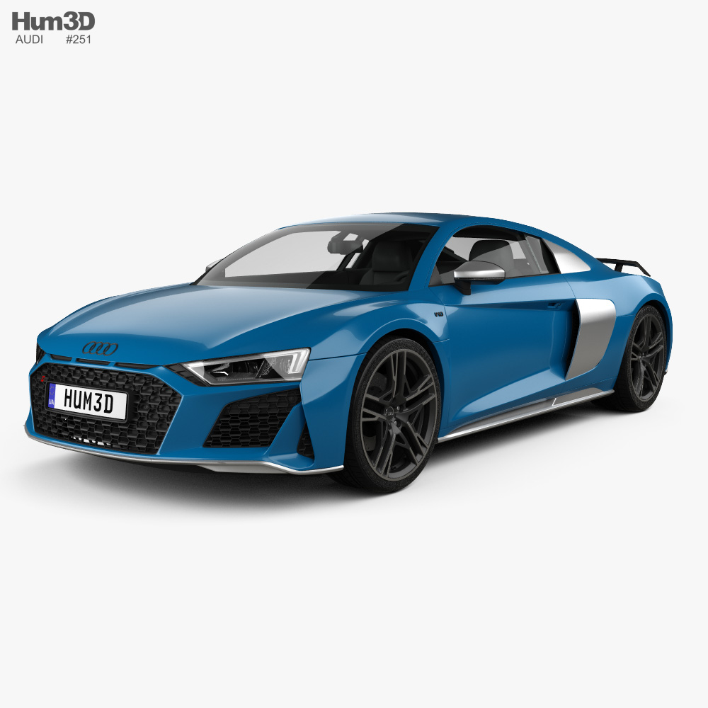 Audi R8 V10 coupe 2019 3d model