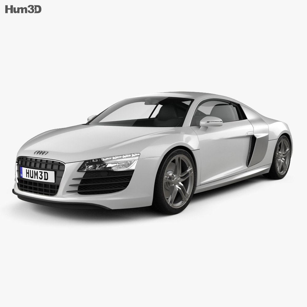 audi r8 coupe 2013 3d model hum3d. Black Bedroom Furniture Sets. Home Design Ideas